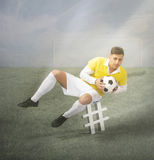 Hashtag symbol in a football moment Royalty Free Stock Photo