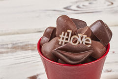 Hashtag-Symbol-Liebesaufschrift stockbild