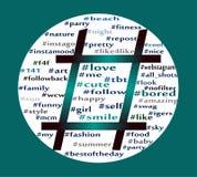Hashtag symbol stock illustration