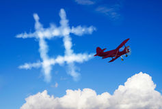 Hashtag symbol. In the sky Royalty Free Stock Images