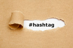 Hashtag Torn Paper Concept Stock Photography