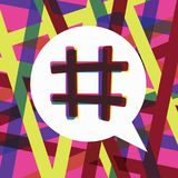 Hashtag trending post concept Royalty Free Stock Image
