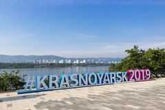Hashtag XXIX do inverno Universiade 2019 Fotografia de Stock Royalty Free