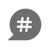 Hashtags icon. Vector illustration in flat style Royalty Free Stock Photos