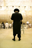 Hasidic jews by wailing wall Royalty Free Stock Image