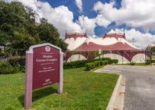Haskin在佛罗里达州立大学的马戏复合体 免版税库存照片
