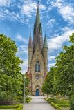 Haslovs Church in Skane. Haslovs Kyrka was built in the years 1879 and 1880 in neo-gothic style according to the designs by the well known royal architect Helgo Stock Photo