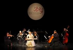 Hasmik Leyloyan执行, 2012年10月01日,巴林 免版税库存图片