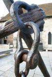 Hasp e catena d'ancoraggio immagine stock libera da diritti