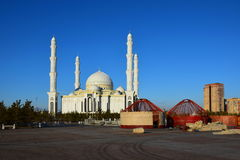 Hasret Sultan Mosque in Astana Royalty Free Stock Images