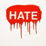 Hass gemalt auf Wand. Lizenzfreie Stockfotos