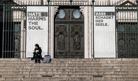Hass schädigt die Seele stockfotos