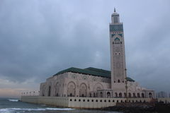 Hassah Tower, Morocco Casablanca Africa. It is a temple called Hassah Tower in Morocco Casablanca at Africa Royalty Free Stock Images
