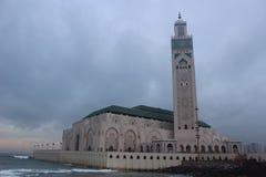 Hassahtoren, Marokko Casablanca Afrika Royalty-vrije Stock Afbeeldingen