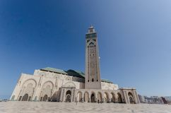 Hassan ΙΙ μουσουλμανικό τέμενος, Καζαμπλάνκα Στοκ φωτογραφία με δικαίωμα ελεύθερης χρήσης