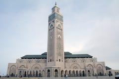 Hassan ΙΙ μουσουλμανικό τέμεν&o Κασαμπλάνκα Μαρόκο Στοκ Φωτογραφία