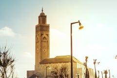 hassan ii meczetu Zdjęcia Royalty Free