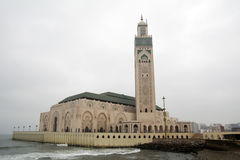 Hassan II moské - Casablanca - Marocko Arkivfoton