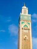 Hassan II moské i Casablanca Arkivbilder