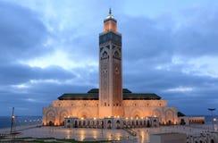 Hassan II moské i Casablanca Fotografering för Bildbyråer