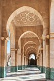 Hassan II moské inre Casablanca Marocko Fotografering för Bildbyråer