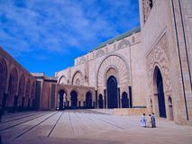 Hassan II moskee stock foto's