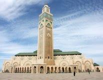 Hassan II moskee in Casablanca stock afbeelding