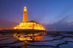 Hassan II Moskee in Casablanca, Marokko Royalty-vrije Stock Afbeelding