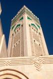 Hassan II Moskeeminaret, Casablanca, Marokko Royalty-vrije Stock Fotografie