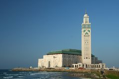 The Hassan II Mosque Stock Photo