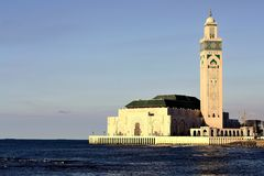 Hassan II mosque in Casablanca royalty free stock image