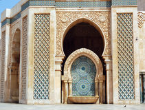 The Hassan II mosque in Casablanca, fountain with tiles Stock Photography