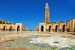 Hassan II mosque casablanca. The Hassan II Mosque is located in Casablanca (Morocco). Built partly on the sea, it is a religious and cultural complex, built on Royalty Free Stock Photography