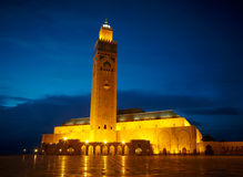 Hassan II Mosque in Casablanca, Morocco Africa.  Stock Images
