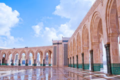 Hassan II Mosque in Casablanca, Morocco, Africa Royalty Free Stock Photos
