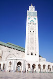 Hassan II Mosque - Casablanca - Morocco. Hassan II Mosque - Casablanca - Best of Morocco. The Hassan II Mosque, located in Casablanca is the largest mosque in Royalty Free Stock Photo