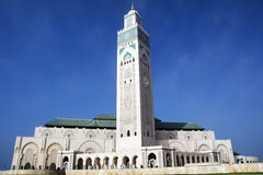 Hassan II Mosque - Casablanca - Morocco. Hassan II Mosque - Casablanca - Best of Morocco. The Hassan II Mosque, located in Casablanca is the largest mosque in Stock Photo