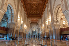 Hassan II mosque in Casablanca, Morocco Royalty Free Stock Photo