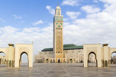 The Hassan II Mosque. Hassan II Mosque in Casablanca, Morocco. The mosque was completed in 1993 and is the biggest in Morocco, 7th biggest in the world and has Stock Image