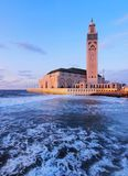 Hassan II Mosque in Casablanca Stock Images