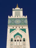 Hassan II mosque detail, Casablanca, Morocco. Hassan II mosque tower detail, Casablanca, Morocco Royalty Free Stock Photo