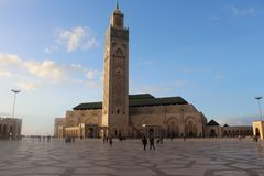 The best mosque in the world HASSAN II stock photography