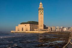 Hassan II Mosque. Next to the sea Stock Image