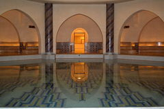 Hassan II mosque hot water pool. stock photo