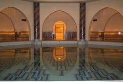 Hassan II mosque hot water pool. Stock Photo