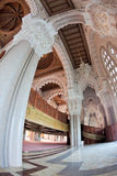 Hassan II mosque interior. Interior of the Hassan II Mosque, Morocco, Casablanca. View to the minaret and  Cedar wood ceiling Stock Photography