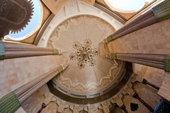 Hassan II mosque interior - ceiling Stock Photos