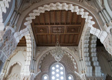 Hassan II Mosque interior vault in Casablanca Morocco. Stock Photos