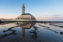 Free Hassan II Mosque Is A Mosque In Casablanca, Morocco. It Is The Largest Mosque In Africa And The 3rd Largest In The World. Royalty Free Stock Photography - 167982347