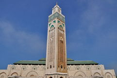The Hassan II Mosque, located in Casablanca Royalty Free Stock Photos